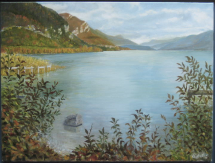 La d'Annecy - Painting, ©2017 by Actis-Datta Di Carasco -