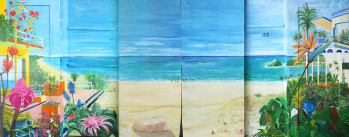 fresque - Painting,  70.9x236.2x2.8 in, ©2017 by Actis-Datta Di Carasco -