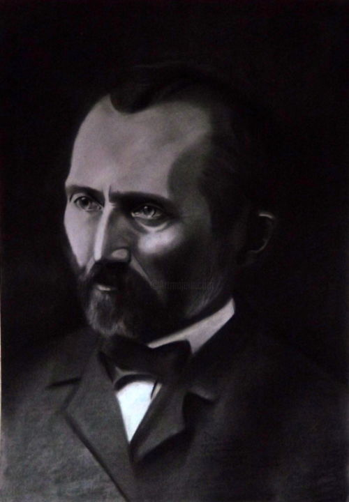 Van Gogh - Drawing,  48x33x1 cm ©2011 by Acuz -                                        Portraiture, Portraits