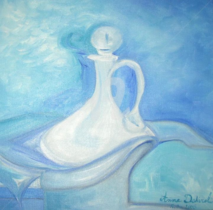 carafe - Painting,  11.8x11.8 in, ©2006 by anne dahirel -