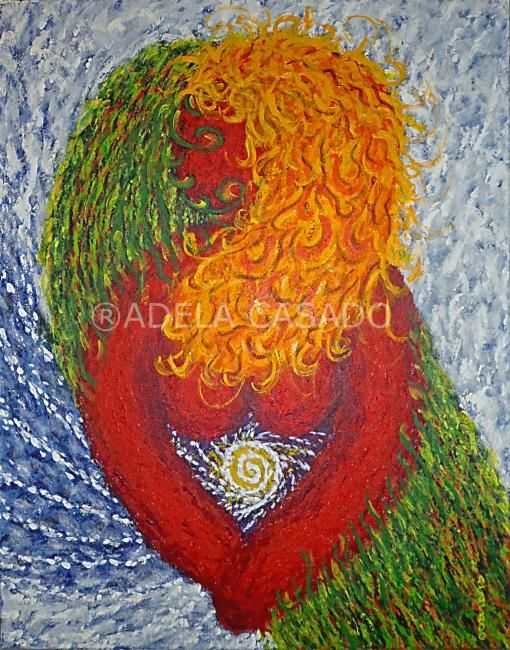 MATERNIDAD / MATERNITY - Painting,  92x73 cm ©2009 by Adela Casado -                                                                                    Contemporary painting, Abstract Art, Canvas, Fabric, Women, MATERNIDAD, MADRE, EMBARAZO, mather, PREÑADA, EMBARAZADA, ARTE, ACTUAL, CONTEMPORANEO, CONTEMPORARY, PAINTING, ORIGINAL, OIL, LIENZO, CANVAS, ADELACASADO, ACASADO, ADELA CASADO, SPAIN, MODERN, MODERNO, FINEART, ARTWORK, MATERNITY, MOTHER, PREGNANCY, PREGNANT