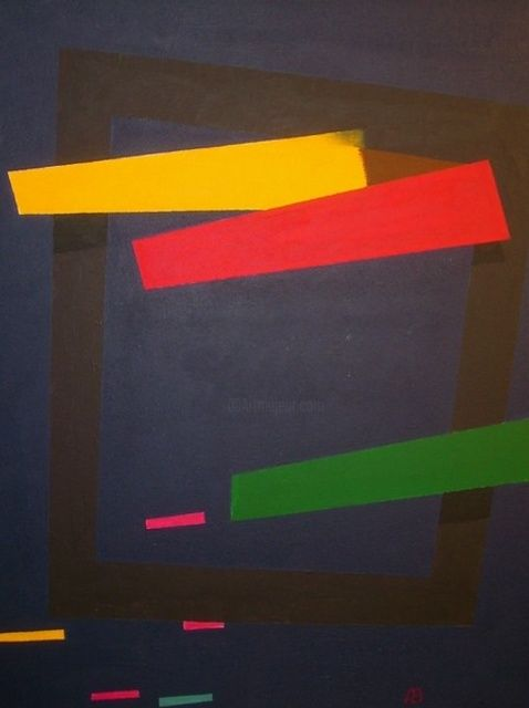 Transmaterialistische Komposition Nr. 2 - Painting,  80x60 cm ©2011 by Adrian Bayreuther -                            Abstract Art, Contemporary art work by Adrian Bayreuther