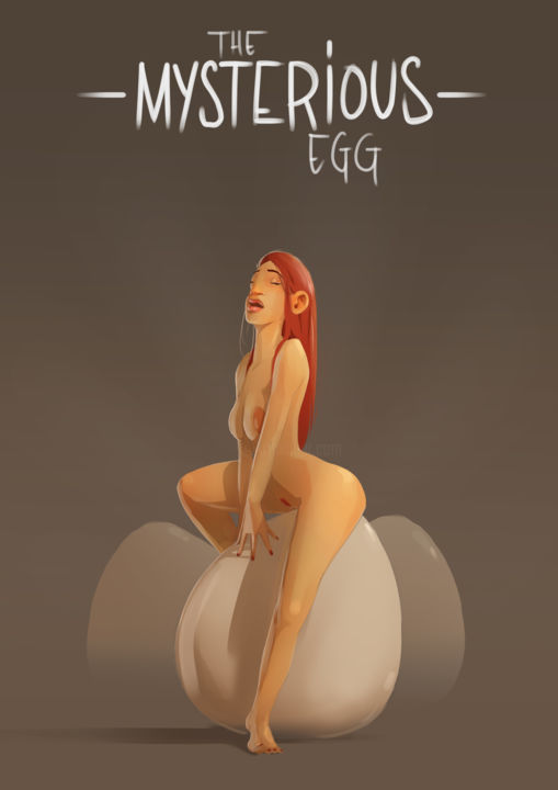 Mysterious Egg - © 2019 nu, femme, oeuf, finesse, douceur, gestuelle, fin, pose, erotisme Online Artworks