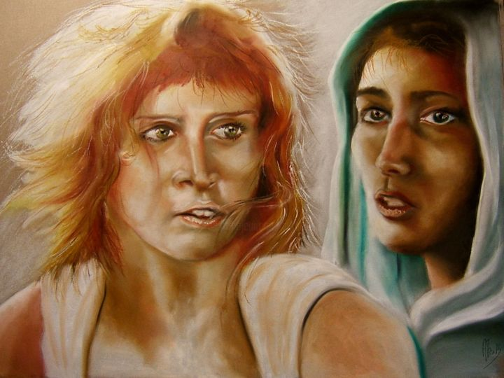 """Drawing titled """"20/02/2015"""" by Adtheo, Original Art, Pastel"""