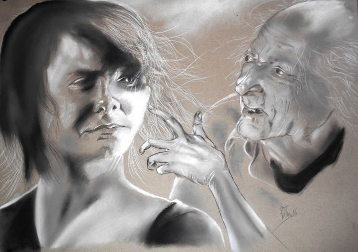 """Drawing titled """"31/01/2016"""" by Adtheo, Original Art, Chalk"""
