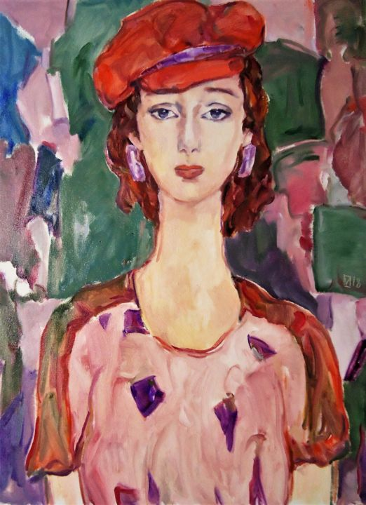 """Painting titled """"WOMAN 142 / FELICIA…"""" by Vale Ovchinnikov, Original Art, Oil"""