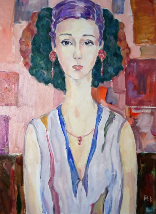 """Painting titled """"WOMAN 144 / NELLI /"""" by Vale Ovchinnikov, Original Art, Oil"""
