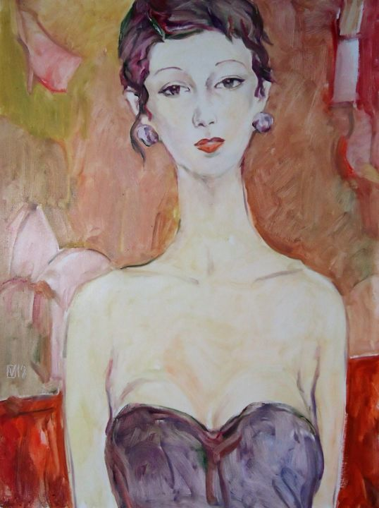 """Painting titled """"WOMAN 148 / SHELLY /"""" by Vale Ovchinnikov, Original Art, Oil"""