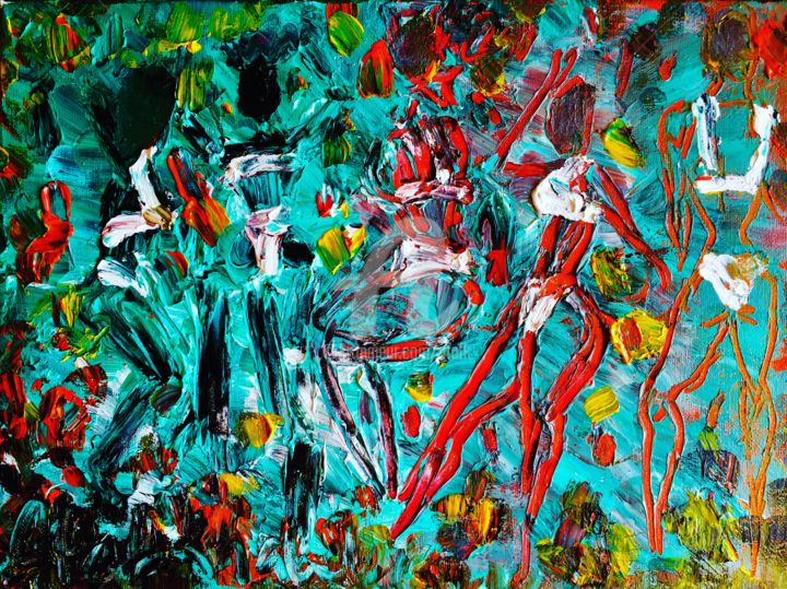 """Painting titled """"Summer Fun"""" by Afaf, Original Art, Acrylic"""