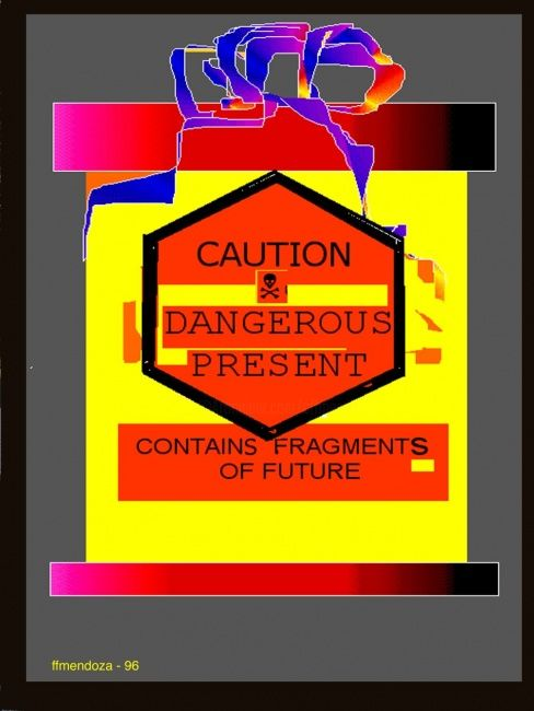 Caution series - Painting ©1998 by ffmendoza -