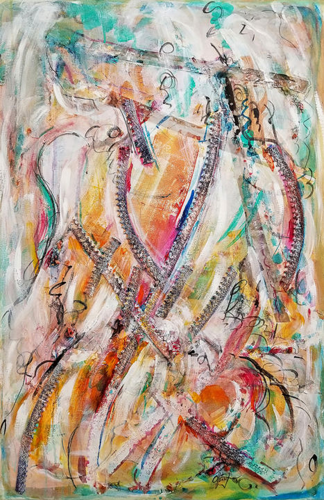 """Painting titled """"Bride"""" by Afsaneh Vollmer, Original Art, Acrylic"""