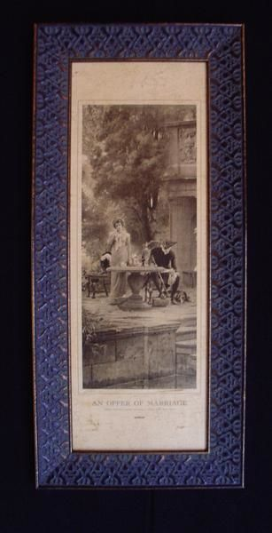 """Drawing titled """"An Offer of Marrige"""" by Aged Artwork, Original Art,"""