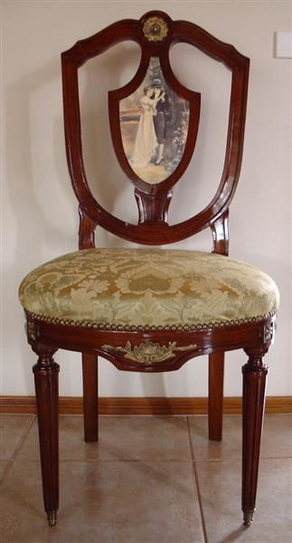 """Drawing titled """"Chair with aged art…"""" by Aged Artwork, Original Art,"""