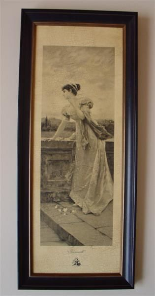 """Drawing titled """"Farewell"""" by Aged Artwork, Original Art,"""