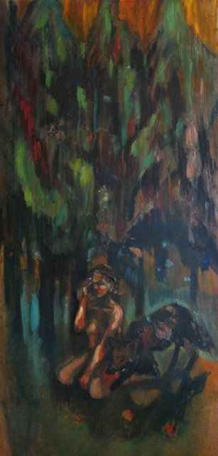 quandleloupred.jpg - Painting ©2012 by Emilie Lagarde -