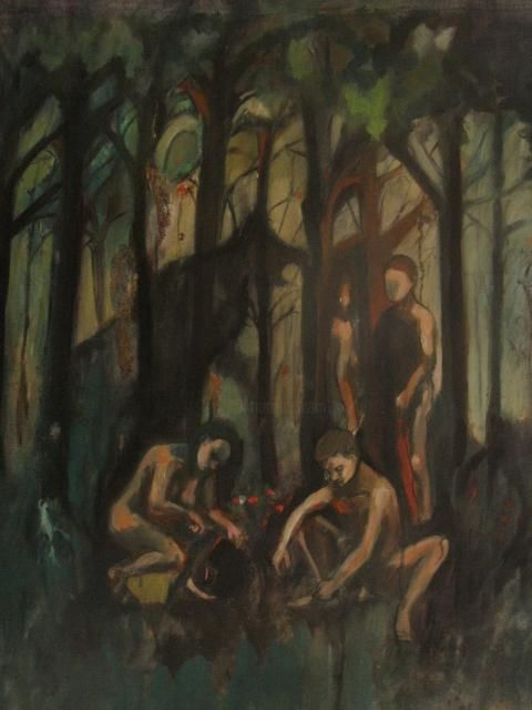 lagrandeombrered.jpg - Painting ©2012 by Emilie Lagarde -