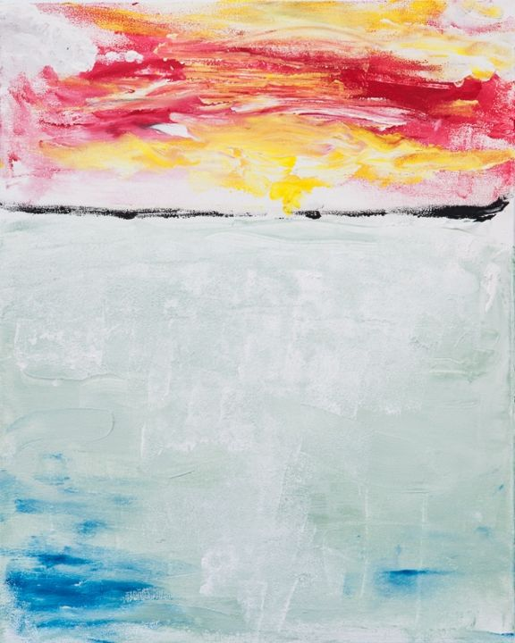 bon voyage - Painting ©2013 by Terri -                            Abstract Expressionism, sailing off