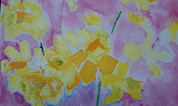 daffodils - Painting ©2016 by Terri -