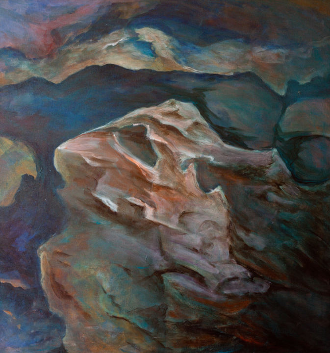 """Painting titled """"Walnut Canyon #2"""" by Linda Armstrong, Original Art, Acrylic"""