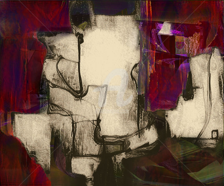"""Digital Arts titled """"Clouds in Red Dreams"""" by Airton Sobreira, Original Art, Digital Painting"""