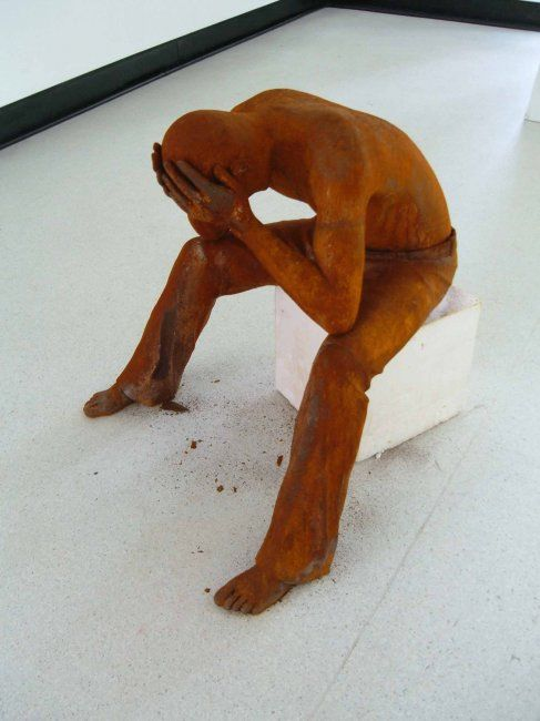 """Sculpture titled """"corrosion"""" by Alistair Ian Jelks, Original Art, Casting"""