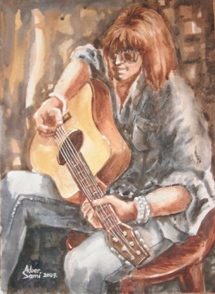 """Painting titled """"Music is Life"""" by Akber Sami, Original Art,"""
