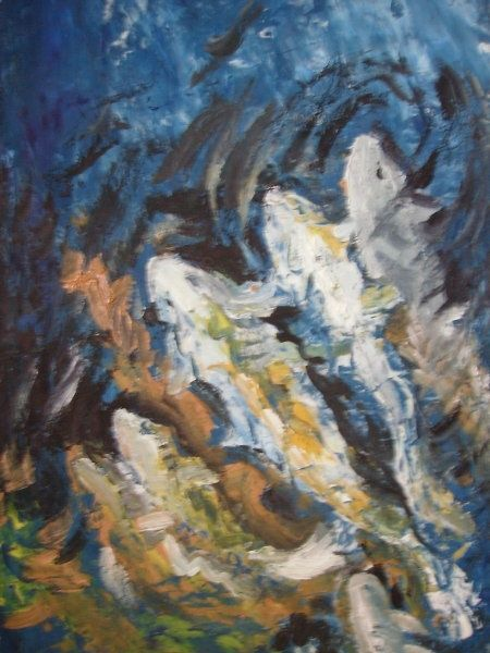 """Painting titled """"Under The Sea"""" by Akber Sami, Original Art,"""