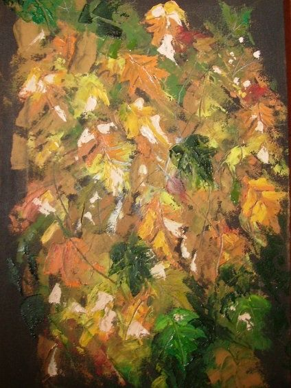 """Painting titled """"Autumn Leaves"""" by Akber Sami, Original Art,"""
