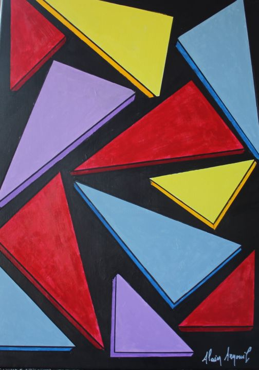 """Painting titled """"ECLATS"""" by Alain Arnouil, Original Art, Acrylic"""