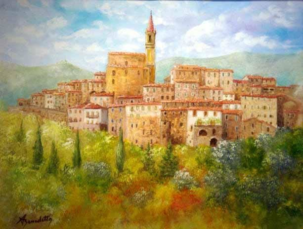 contes - Painting,  70x50 cm ©2004 by Alain Benedetto -