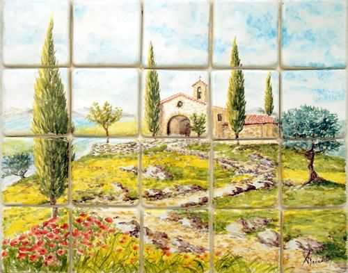 provence - Painting,  60x45 cm ©2004 by Alain Benedetto -