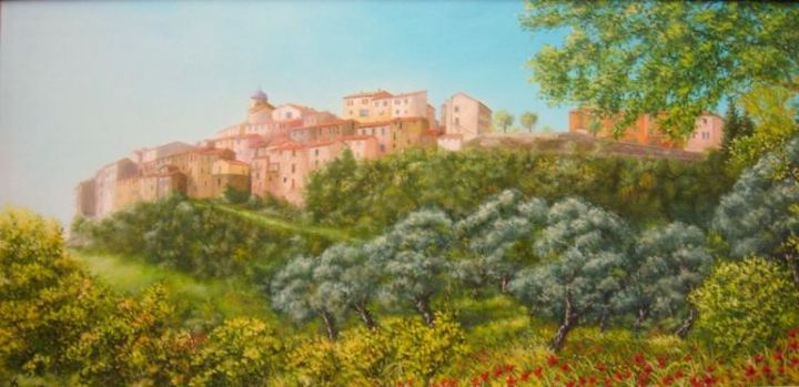 berre les alpes - Painting,  120x60 cm ©2004 by Alain Benedetto -