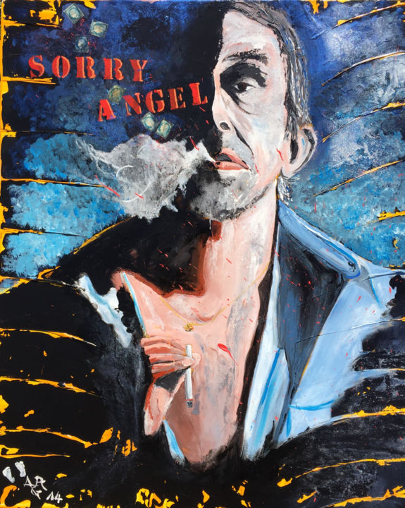 """Painting titled """"SORRY ANGEL"""" by Alain Granger (A.G.R), Original Art, Acrylic"""