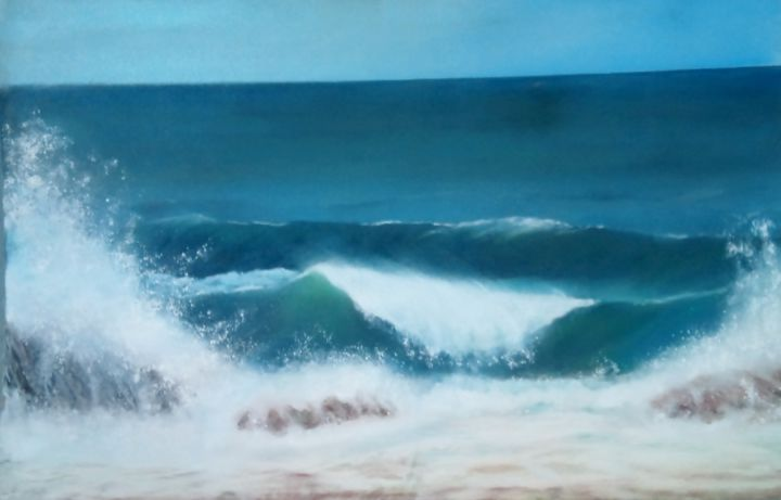 nouvelle-vague . jpg pastel 58x39cm - ©   Online Artworks