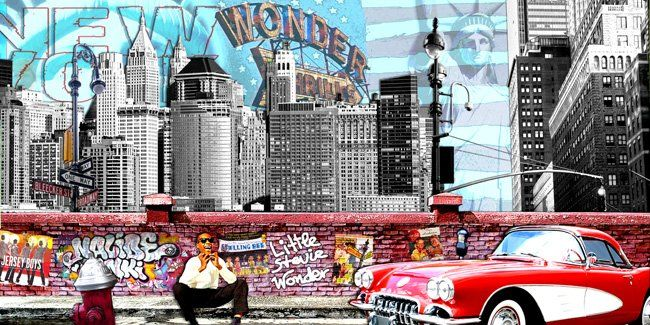 Wonder - Collages,  23.6x47.2 in, ©2009 by Alan Berg -