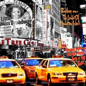 LITTLE MISS BROADWAY - Painting,  37.4x37.4 in, ©2010 by Alan Berg -