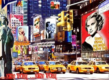 NEW YORK / NEW YORK - Painting,  37.4x51.2 in, ©2010 by Alan Berg -