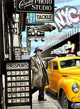 PASSPORTS - Painting,  51.2x37.4 in, ©2010 by Alan Berg -