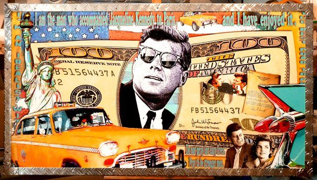 Kennedy - Painting, ©2011 by Alan Berg -