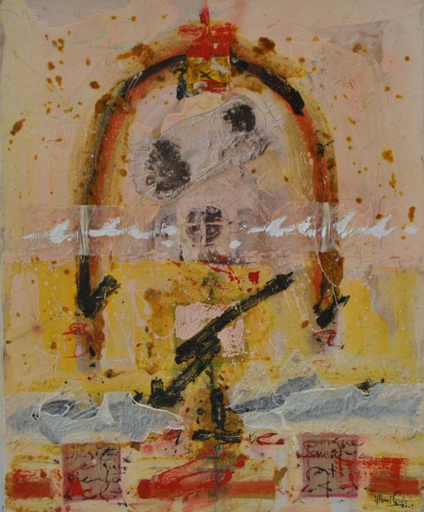 ICONO II - Painting,  100x81 cm ©2009 by Albert Casals -                        Canvas