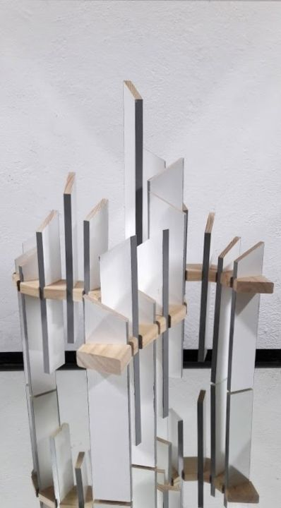 Vibratio #16 - Sculpture,  19.7x30.3x22.4 in, ©2015 by alberto simões de almeida -