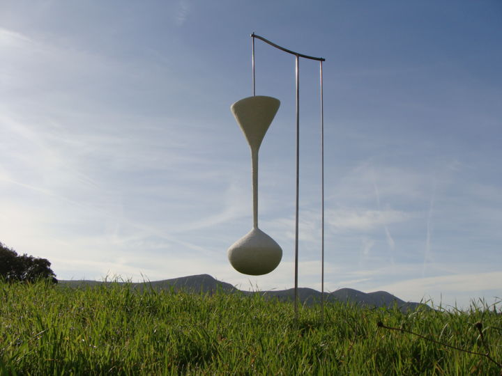 a matter of time - Sculpture,  120x45x24 cm ©2018 by Alberto Kissola -                                                    Metal, Other, Places