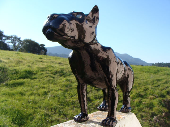 dog - Sculpture,  35x45x17 cm ©2016 by Alberto Kissola -                        Animals
