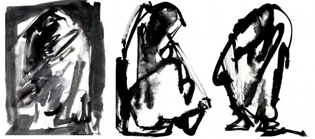 mouvement1 - Drawing ©2006 by Mohamed Barrak -