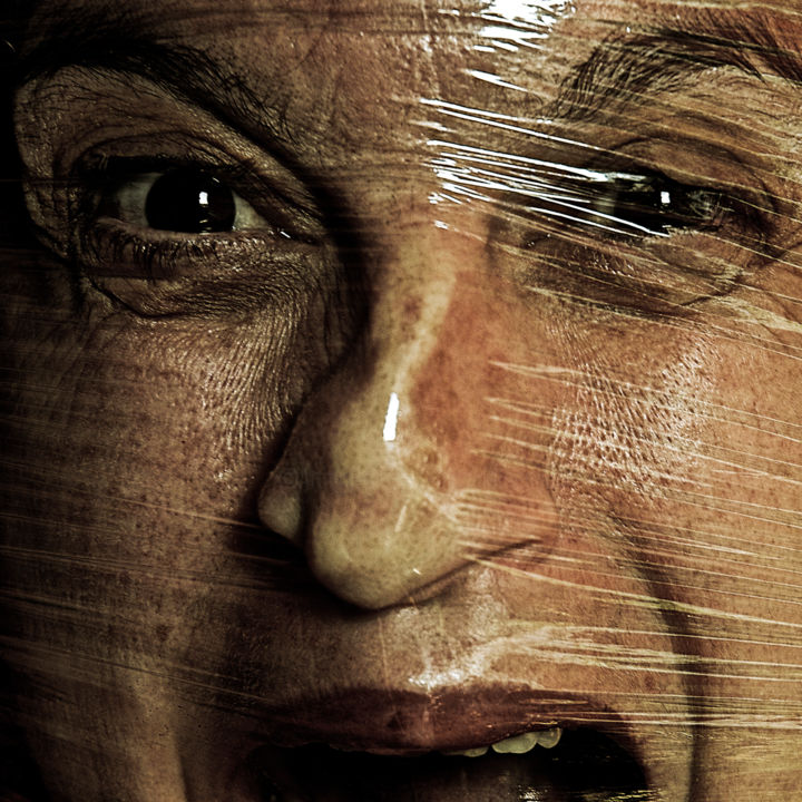 IDENTIDAD 18.jpg - Photography,  39.4x39.4 in, ©2014 by Manuel Alcaide Mengual -                                                                                                                                                                          Expressionism, expressionism-591, Portraits