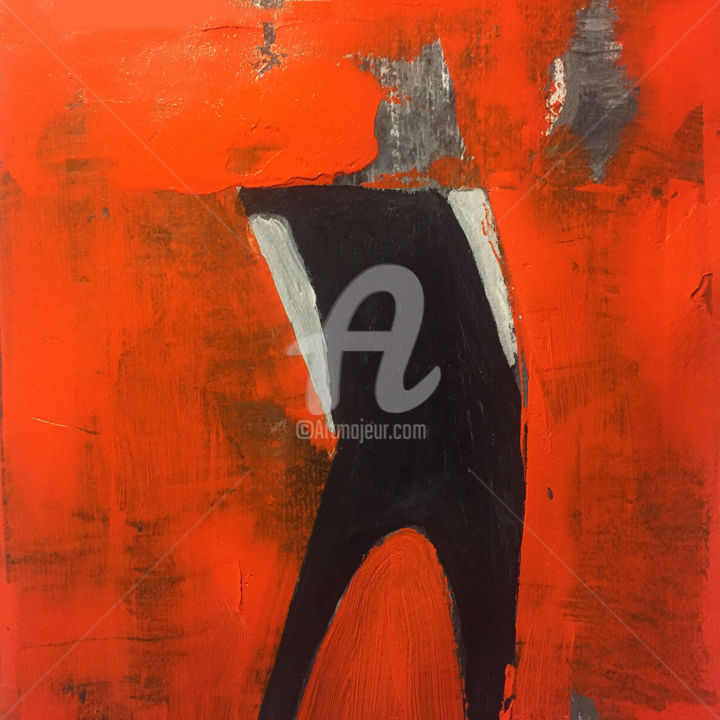 """Painting titled """"Humans After Me"""" by Alejandro Valdés, Original Art, Acrylic"""