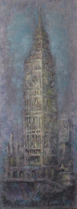 """Painting titled """"Big Ben"""" by Natalieverve, Original Art, Oil"""