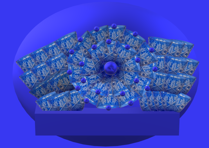 Cornflower collage of glasses and 3d geometric sha - © 2019 3d geometric abstract Online Artworks
