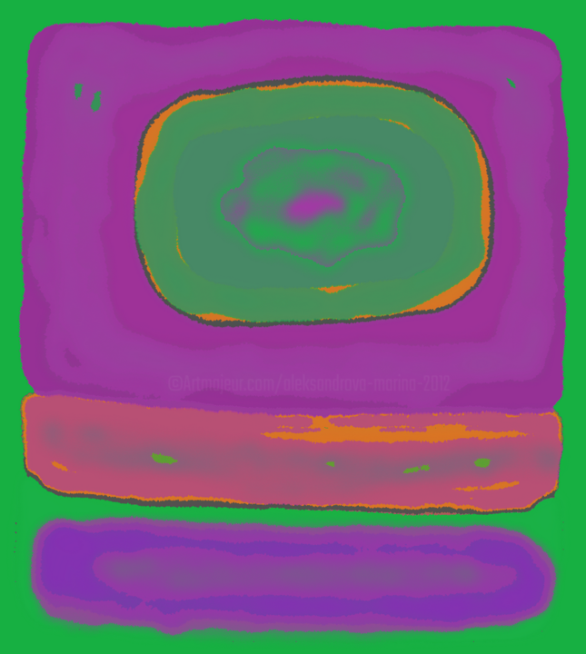 On the way to the truth with Ratko-Green and lilac - Digital Arts ©2019 by Marina Alexandrova -                                            Abstract Expressionism, Abstract Art, spotlight painting