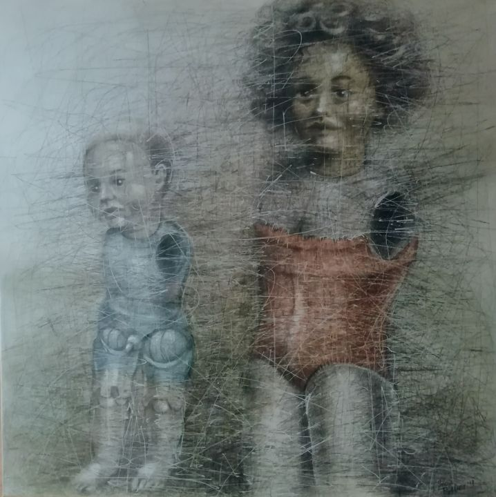 """Painting titled """"We play without han…"""" by Sasha Tsyganov, Original Art, Oil"""